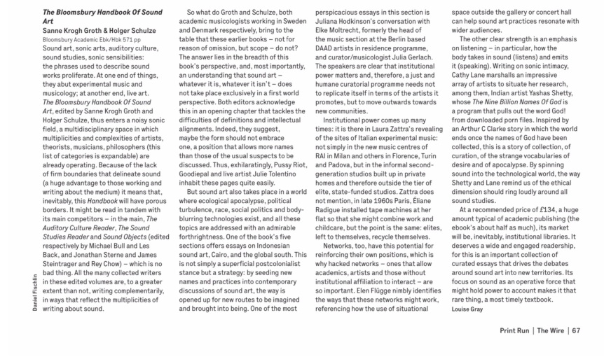 Wire Review Bloomsbury handbook of sound art